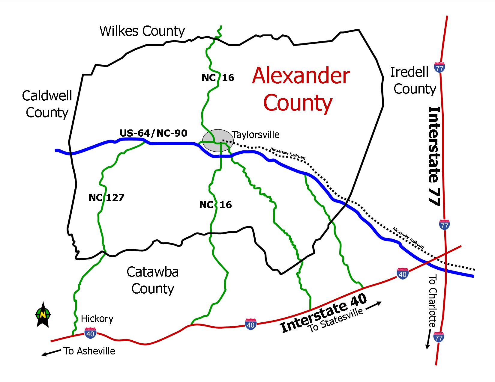 Where is Alexander County?