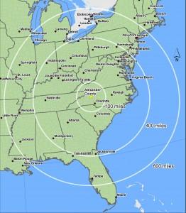 Alexander 600 mile map